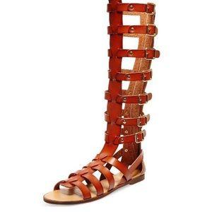 Madden Girl Penna Cognac Tall Gladiator Sandals